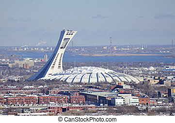 Olympic Stadium, Montreal. - View of the Olympic Stadium and...