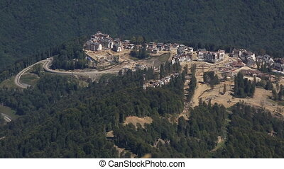 Olympic village in the mountains of Krasnaya Polyana (the...