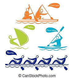 Olympics water sports symbol design