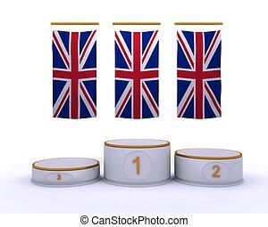 olympisch, meisterschaft, london, podium, 2012