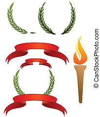 olympisch, zeichen & schilder