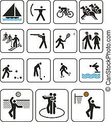 olympische spiele, häfen, zeichen & schilder