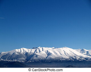 Olympus Mountain covered by snow in Greece - Olympus...