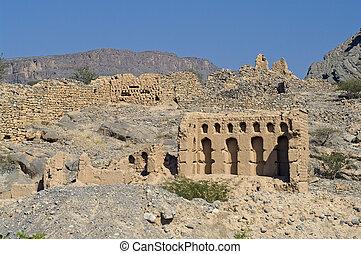 omán, sultanato, pueblo viejo, tanuf