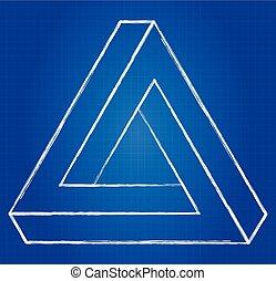 omöjlig, triangel
