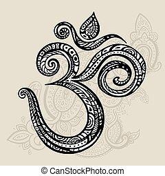 om, aum, symbol.