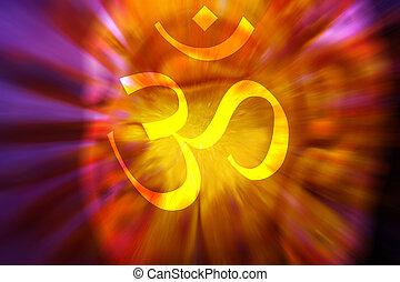 OM Meditation Background - A spiritual hypnotic background...