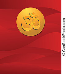 om sign in red