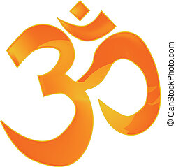 Om - The 'OM' or 'AUM' sign as used by several Eastern...