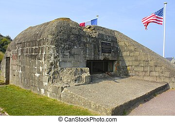 Omaha Beach German Bunker, WWII