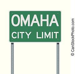 Omaha City Limit road sign