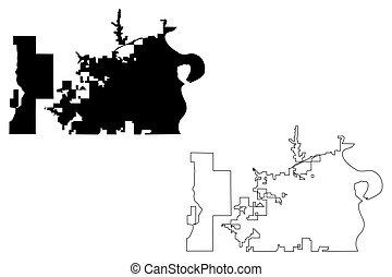 Omaha City map - Omaha City (United States cities, United...