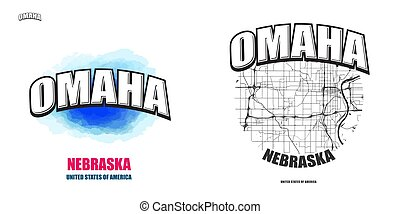 Omaha, Nebraska, two logo artworks - Omaha, Nebraska, logo...