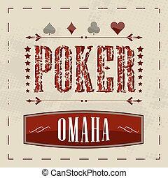 Omaha poker background - Omaha poker retro background for...