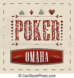 Omaha poker background - Omaha poker retro background for...