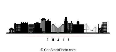 Omaha skyline horizontal banner.