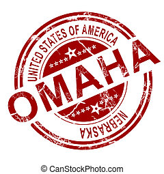 Omaha stamp with white background