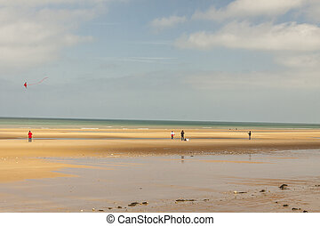 omaha, strand, -, normandie, france.