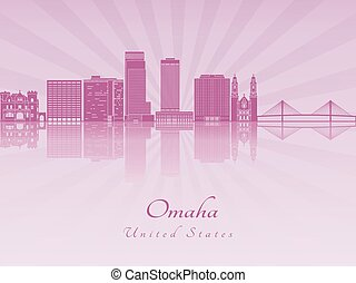 Omaha V2 skyline in purple radiant orchid - Omaha skyline in...