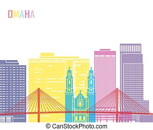 Omaha_V2 skyline pop - Omaha V2 skyline pop in editable...