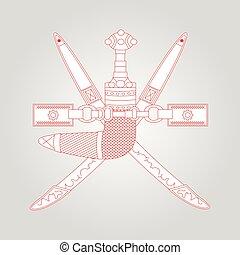 Oman emblem, coat of arms
