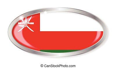 Oman Flag Oval Button