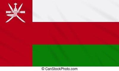 Oman flag waving cloth background, loop - Oman flag waving...