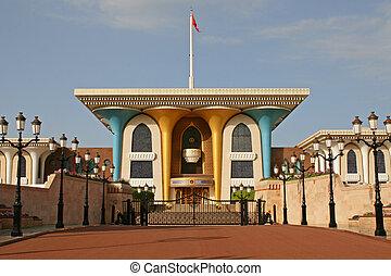 oman, muscat, palais, sultan's