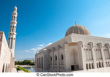 oman, muscat, sultan, mosquée, qaboos