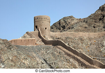 oman, muscat, vieux, sultanat, forteresse