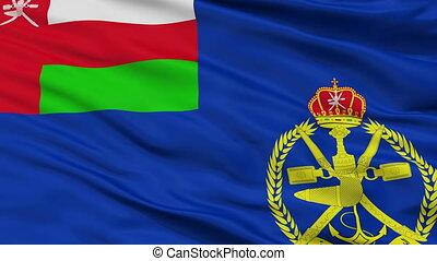 Oman Naval Ensign Flag Closeup Seamless Loop - Naval Ensign...