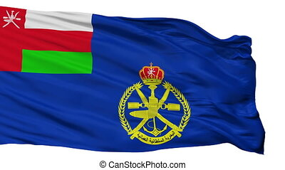 Oman Naval Ensign Flag Isolated Seamless Loop - Naval Ensign...