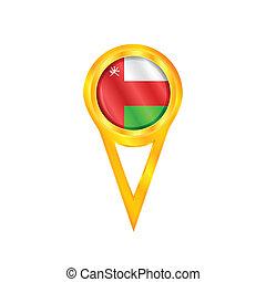 Oman pin flag