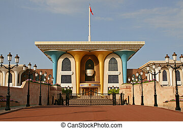 Oman, Sultan's palace in Muscat - Oman - Al Alam Palace of...