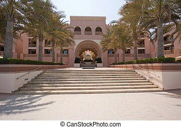 A view of the six-star Shangri-La Al Husn hotel in Muscat, Oman
