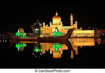 omar ali masjid - Omar Ali Saifuddin Mosque in Brunei...