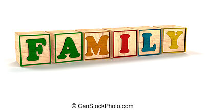 ombre, angolato, blocchi, famiglia, colorare, spelled, fondo, bambino, bianco, morbido, fuori