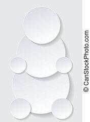 ombre, cerchio, goccia, carta