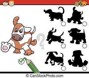 ombre, compito, cartone animato, cani