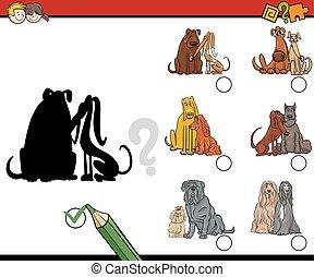 ombre, gioco, cani