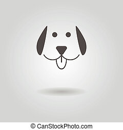 ombre, icône chien