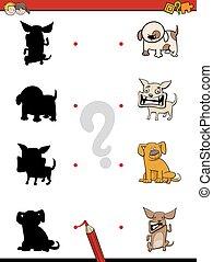 ombre, jeu, chiens