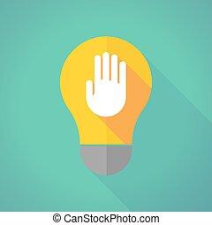 ombre légère, ampoule, long, main