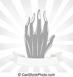 ombre, main