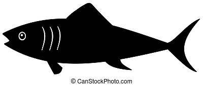 ombre, noir, fish