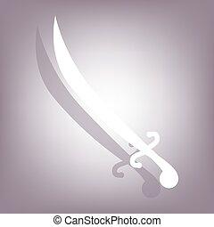 ombre, sabre, icône