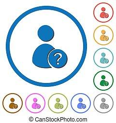 ombre, sconosciuto, utente, profili, icone