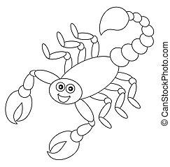 ombre, scorpion