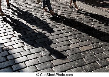 ombre, trottoir