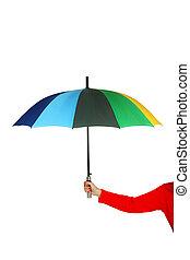 ombrello, aperto, colorito